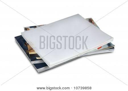 Blank cover magazine