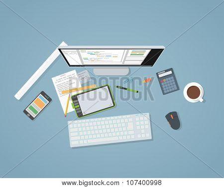 Flat Web Development