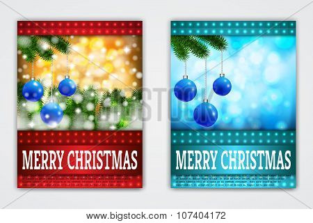 Flyer Templates with Holiday Backgrounds.