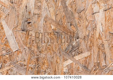 Old plywood recycled compressed wood chippings board background texture poster