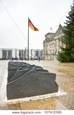 Berlin, Germany - January 2 2007. Memorial To The Murdered Members Of The Reichstag