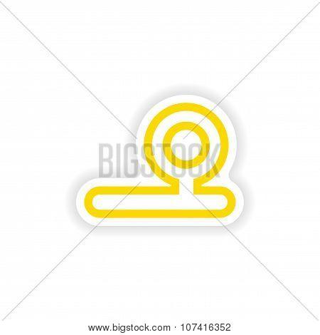 paper sticker on white background instrument otolaryngologist