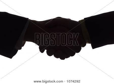 Silhouette Of Handshake