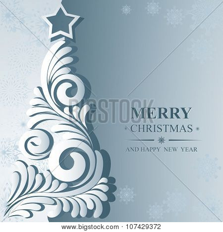 Poster Merry Christmas And Happy New Year