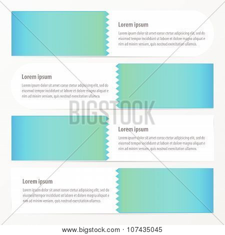 Zigzag Banner  Blue Color