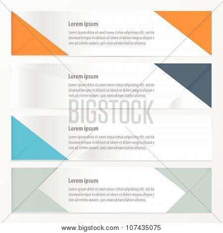 zigzag banner green color   vectors design esp10