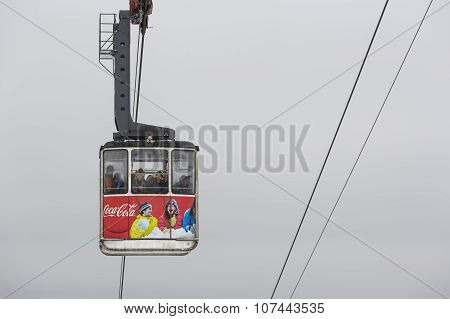 Cable Car Transporting Tourists