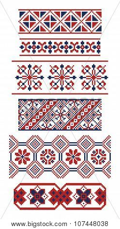 Different Borders Of Russian Ornaments