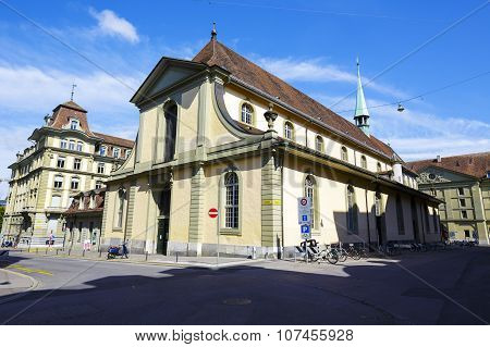 The French Church In Bern In Switzerland