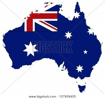 Australia Flag In Map
