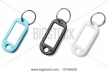 Key Fob Label Chain