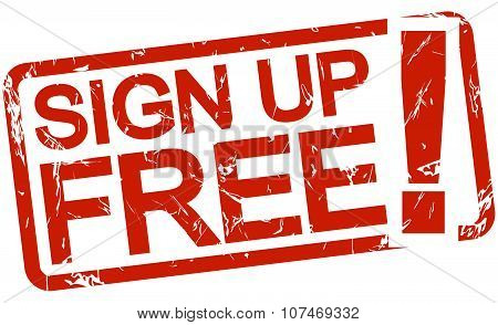 Red Stamp Sign Up Free!
