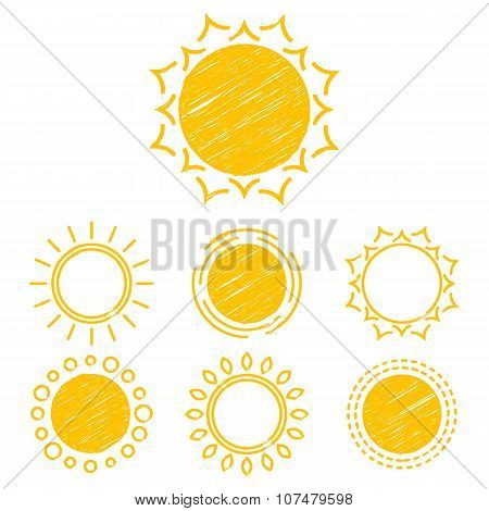 Abstract Symbols Of The Sun