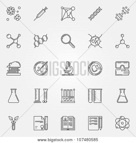 Biotechnology icons set