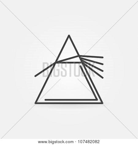 Vector dispersive prism icon