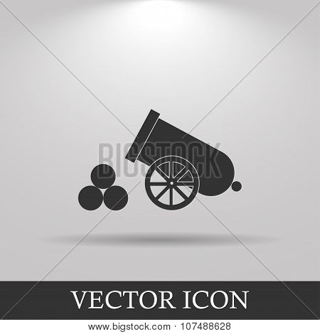 retro cannon Flat design style eps 10 poster