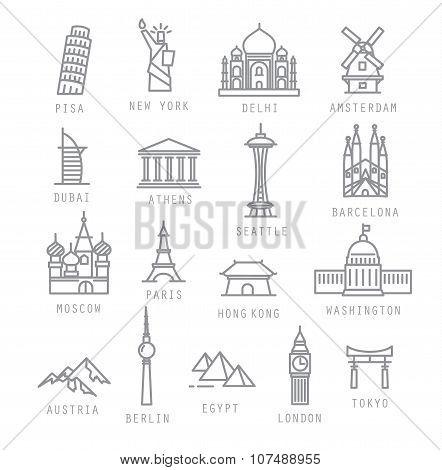 City Flat Icons