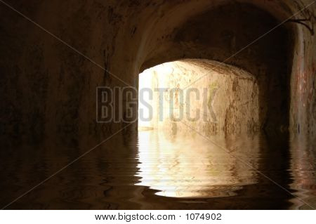 Tunnel In Rendered Water