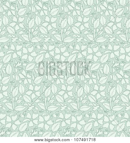 Seamless pattern with flowers. Romantic style.  Vector