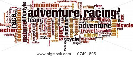 Adventure Racing Word Cloud