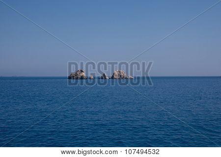 Rocks And Sea