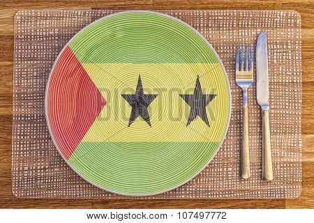 Dinner Plate For Sao Tome And Principe