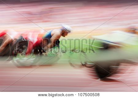 Competition Wheelchair In Motion