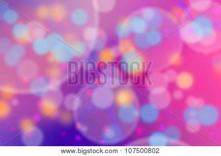 Pink Purple And Blue Bokeh