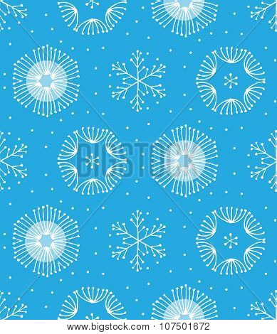 Seamless winter color hand-drawn pattern, vector EPS10