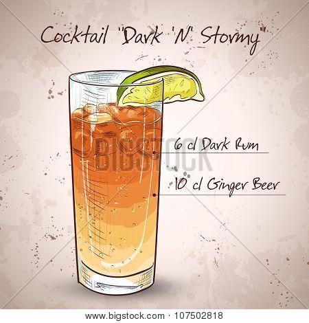 Cocktail Dark 'N' Stormy
