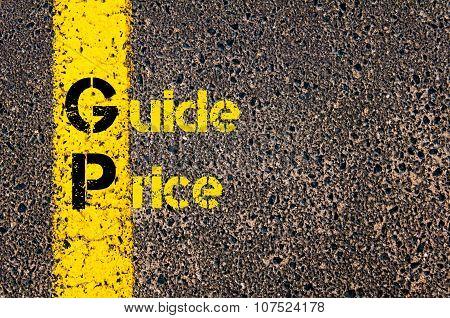 Business Acronym Gp As Guide Price