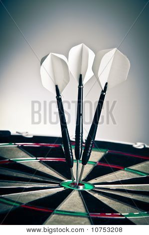 Darts Arrows Right In The Center