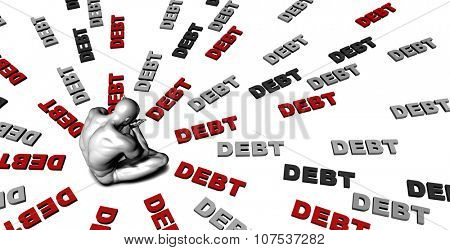 Suffering From Debt with a Victim Crying Male poster