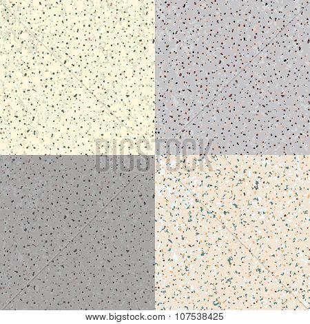 Set Seamless Flecked Stone Texture