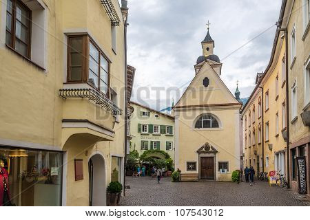 Chapel Erhard In Old Town Of Bressanone