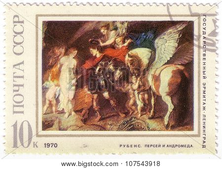 Soviet Union - Circa 1970: An Old Used Ussr Postage Stamp Issued In Honor Of The Great Flemish Baroq