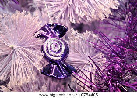 Purple Candy Christmas Decoration