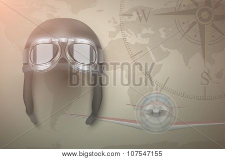 Aviator vector background