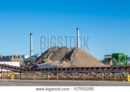 Coal Mining Operation On Coast