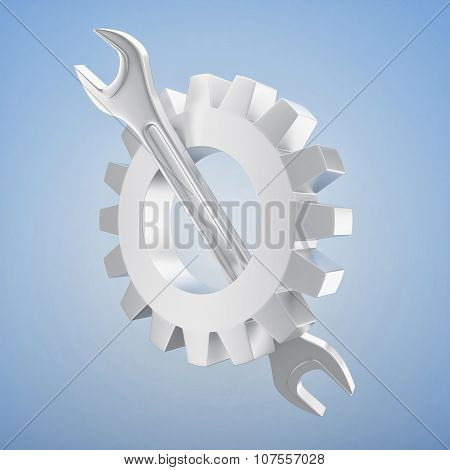 Wrench With Gearwheel
