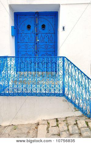 Porch And A Door In Sidi Bou Said, Tunisia