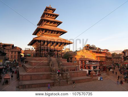 Nyatapola Pagoda On Taumadhi Square In Bhaktapur
