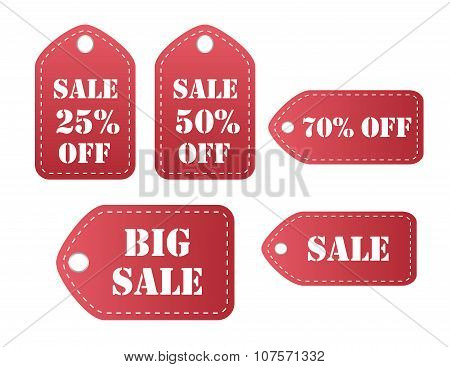Red sale labes