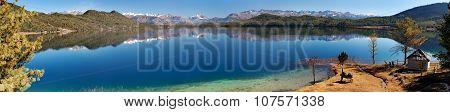 Panoramic View Of Rara Daha Or Mahendra Tal Lake