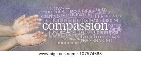 Words of Compassion Word Cloud Banner