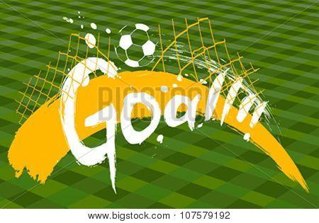 soccer design over green background vector illustration