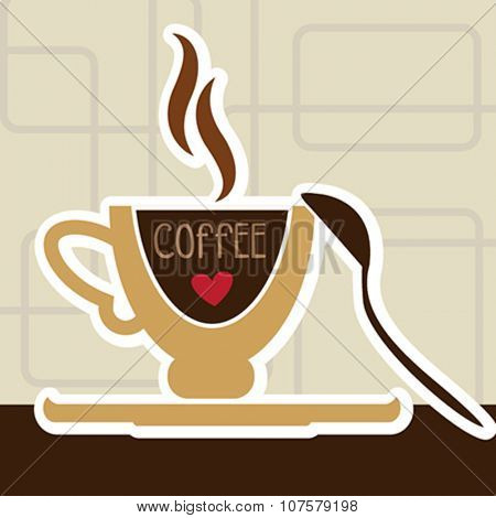 illustration of isolated a cup of coffee