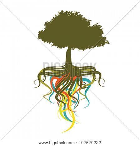 abstract tree, vector illustration