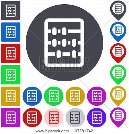 Color abacus icon set