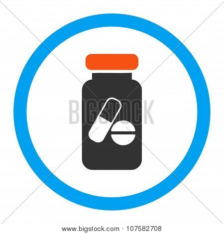 Drugs Phial Rounded Vector Icon